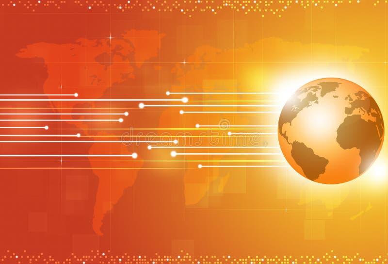 Предпосылка мирового бизнеса желтая бесплатная иллюстрация