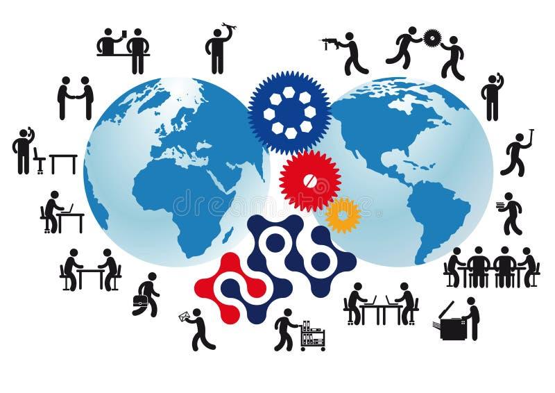 Предпосылка мировой торговли иллюстрация штока