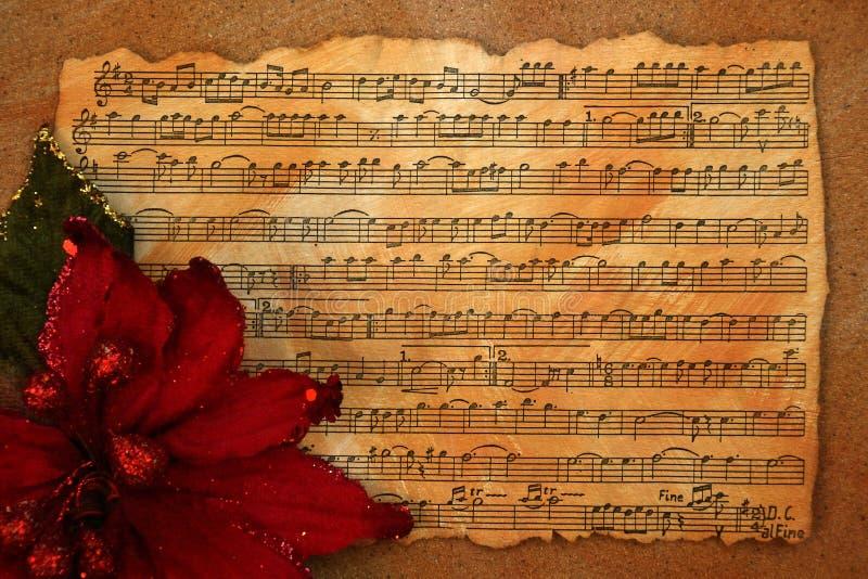 Предпосылка музыки рождества ретро стоковые изображения