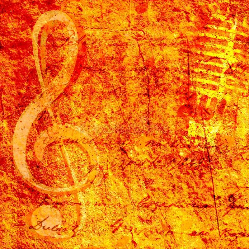 Предпосылка музыки стоковая фотография rf