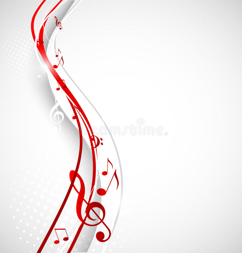 Предпосылка музыки иллюстрация штока