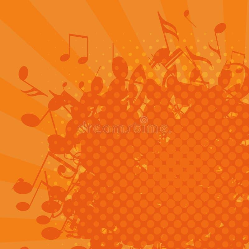 Предпосылка музыки Grunge, иллюстрация вектора