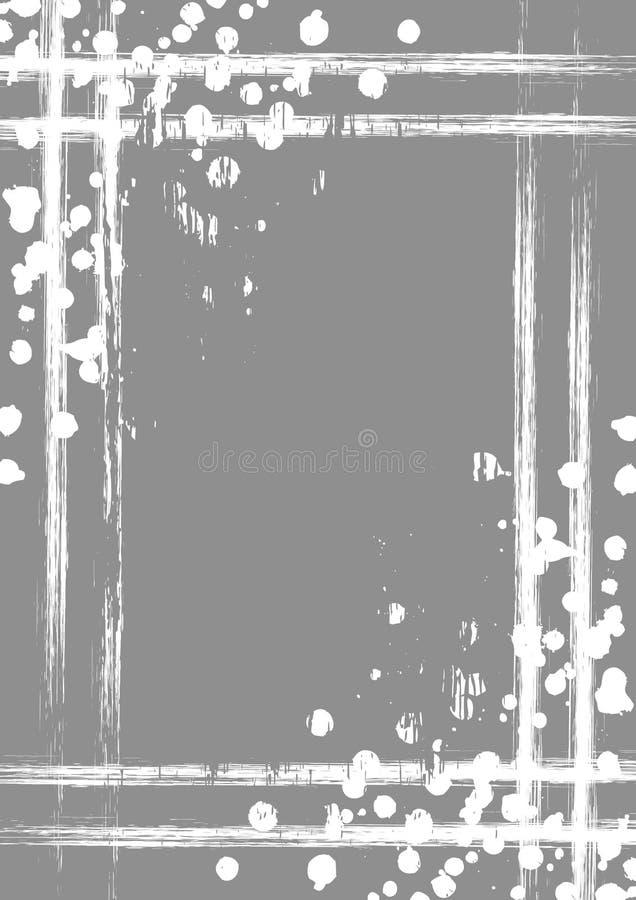 Предпосылка нарисованная вектором с рамкой, границей Шаблон с выплеском, истертость Grunge брызга, отказы Дизайн старого стиля ви иллюстрация вектора