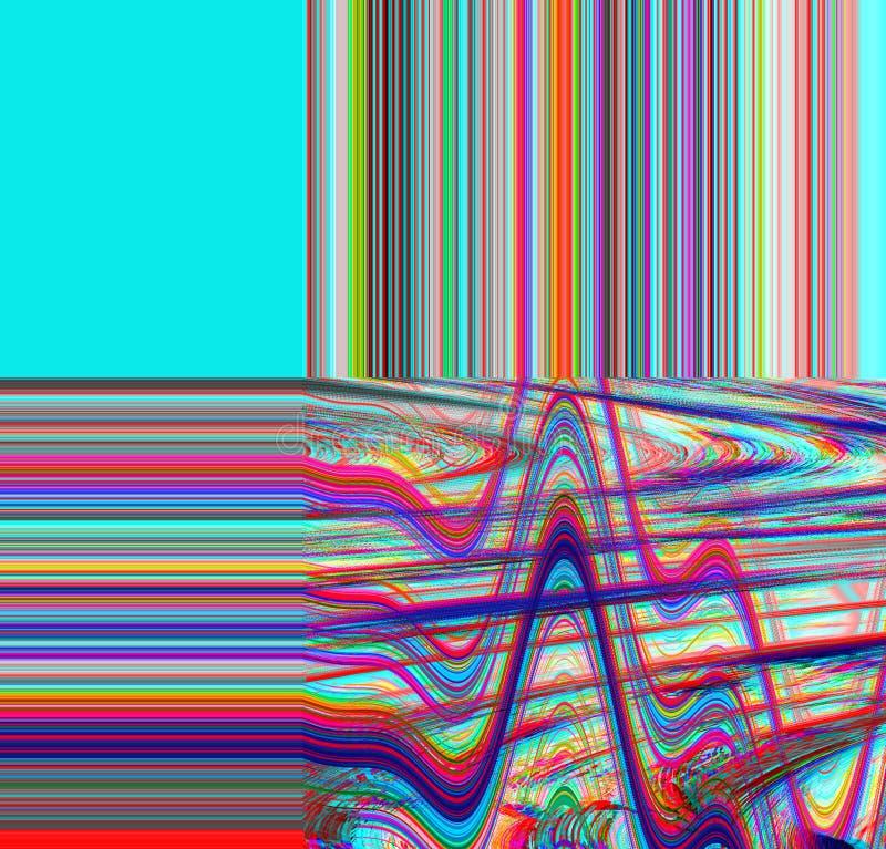 Предпосылка небольшого затруднения психоделическая Старая ошибка экрана ТВ Дизайн конспекта шума пиксела цифров Небольшое затрудн стоковые фото