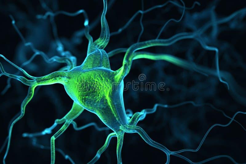 Предпосылка нейронов абстрактная иллюстрация штока