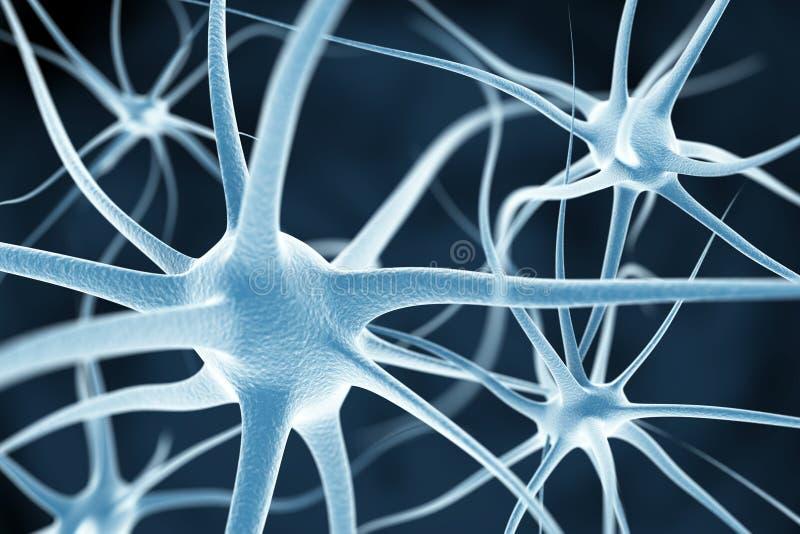Предпосылка нейронов абстрактная бесплатная иллюстрация