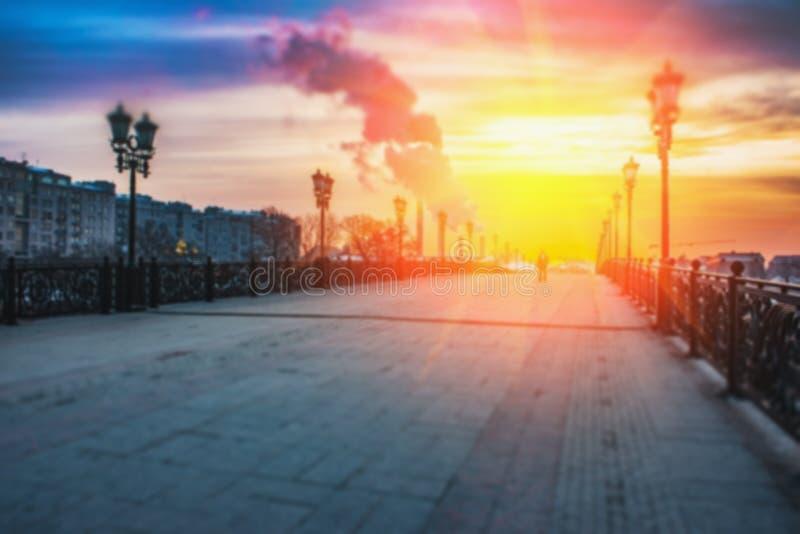 Предпосылка нерезкости Москвы города стоковые фотографии rf