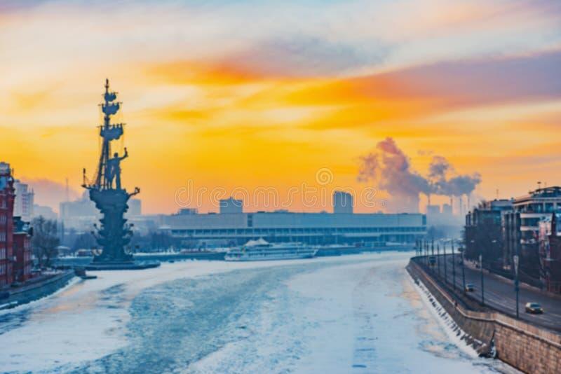 Предпосылка нерезкости Москвы города стоковое изображение rf