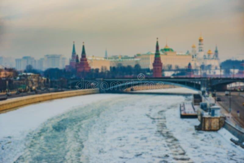 Предпосылка нерезкости Москвы города стоковая фотография rf