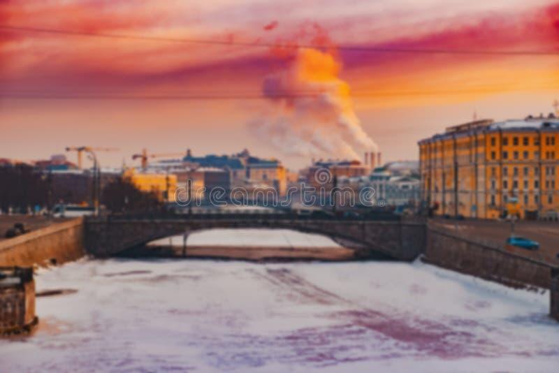 Предпосылка нерезкости Москвы города стоковые изображения rf