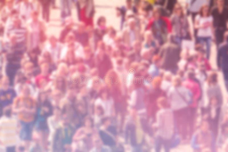 Предпосылка нерезкости общественного мнения широкой публики, вид с воздуха толпы стоковая фотография