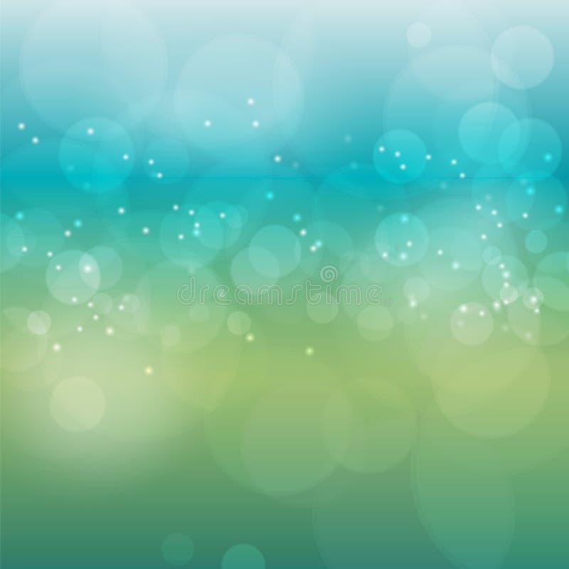 Предпосылка нерезкости bokeh вектора абстрактная Праздничные defocused света иллюстрация штока