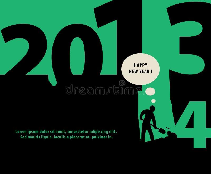 Download Предпосылка Нового Года иллюстрация вектора. иллюстрации насчитывающей выкапывать - 33736522