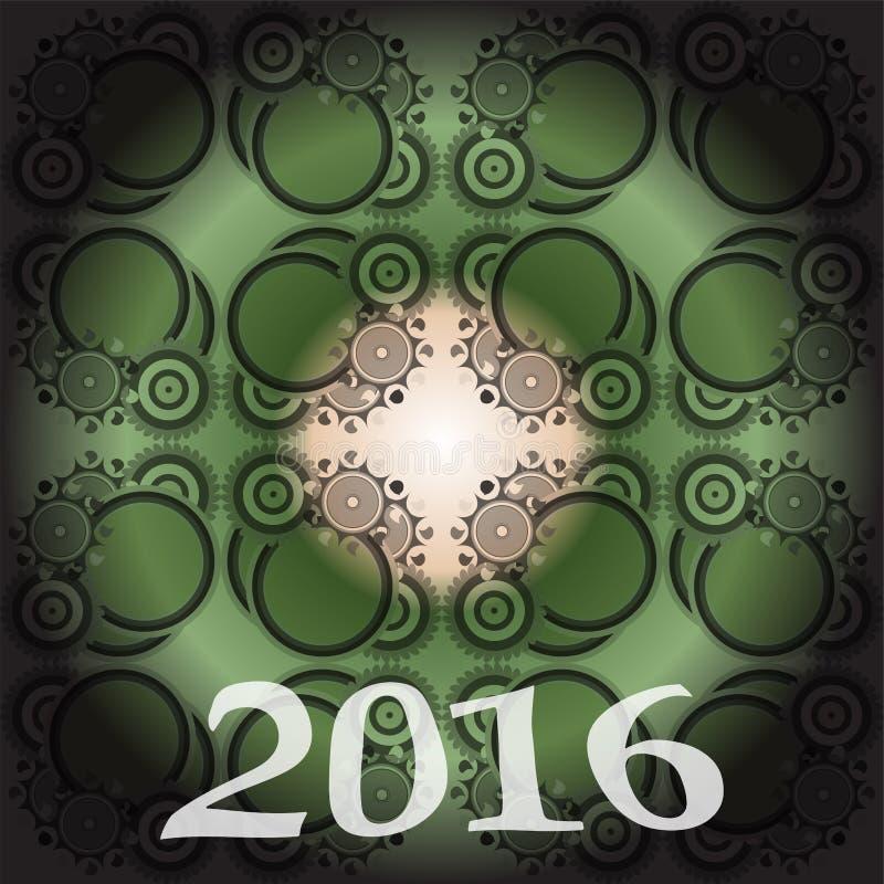 Предпосылка 2016 Новых Годов и счастливого рождеств для ваших рогулек, приглашения, плакатов партии, поздравительной открытки, кр бесплатная иллюстрация