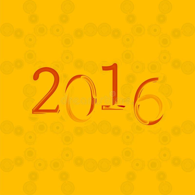 Предпосылка 2016 Новых Годов и счастливого рождеств для ваших рогулек, приглашения, плакатов партии, поздравительной открытки, кр иллюстрация штока