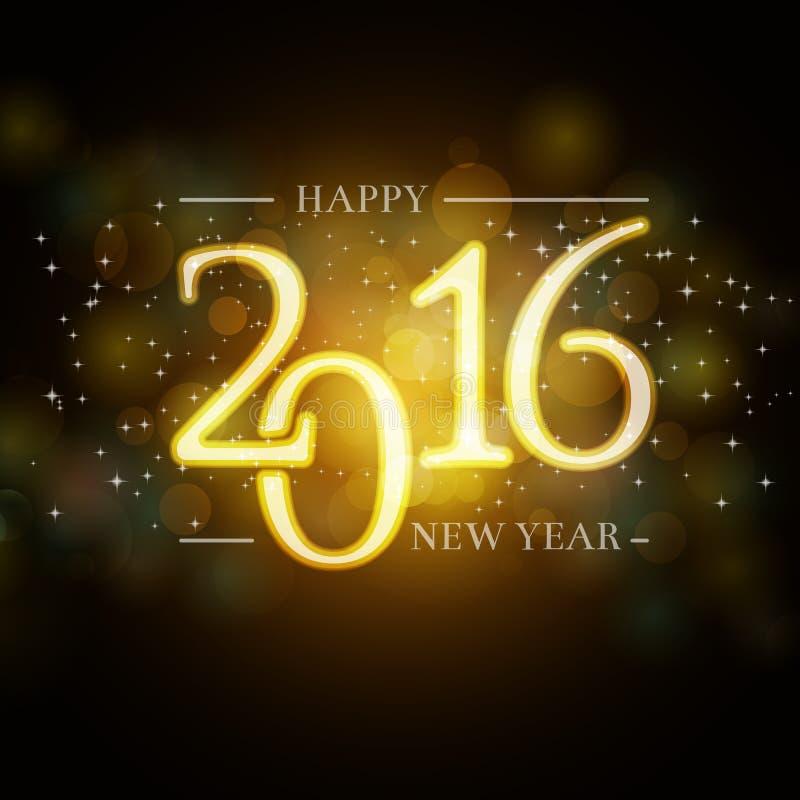 Предпосылка 2016 Новых Годов для ваших приглашения или поздравительной открытки иллюстрация штока