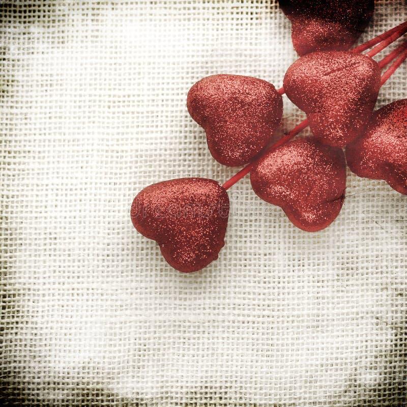Предпосылка дня валентинок с сердцами стоковое изображение