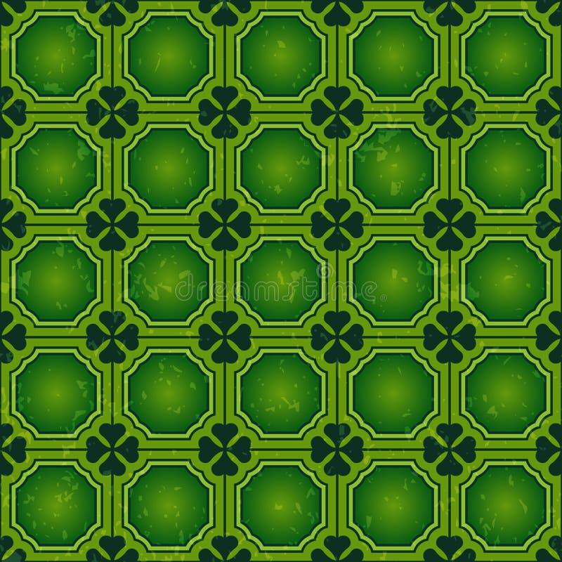 Предпосылка дня St. Patrick, Vector безшовная картина обоев иллюстрация вектора