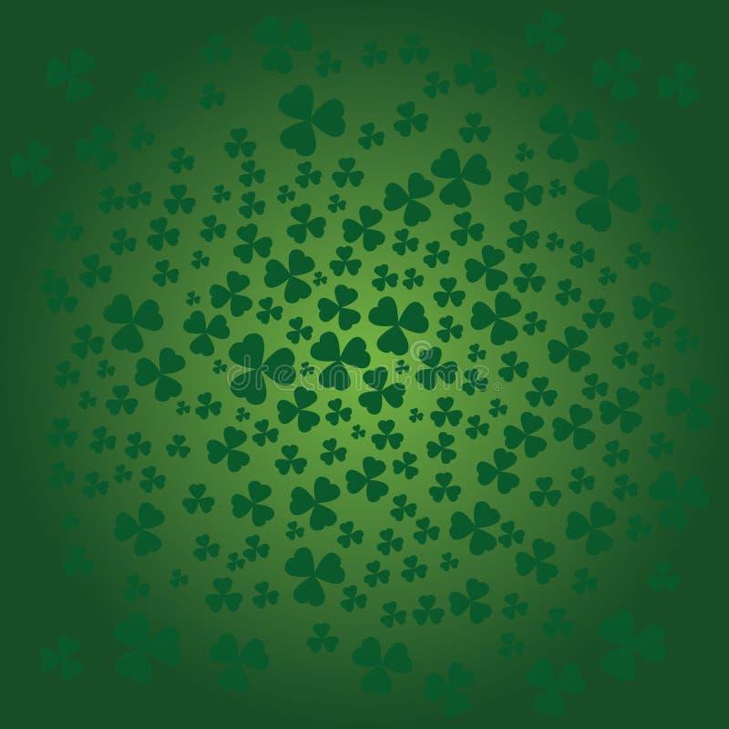Предпосылка дня St. Patricks в зеленых цветах бесплатная иллюстрация
