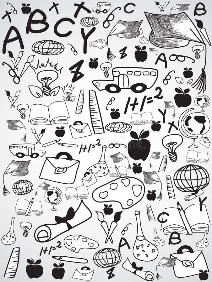 Предпосылка образования Doodle иллюстрация штока