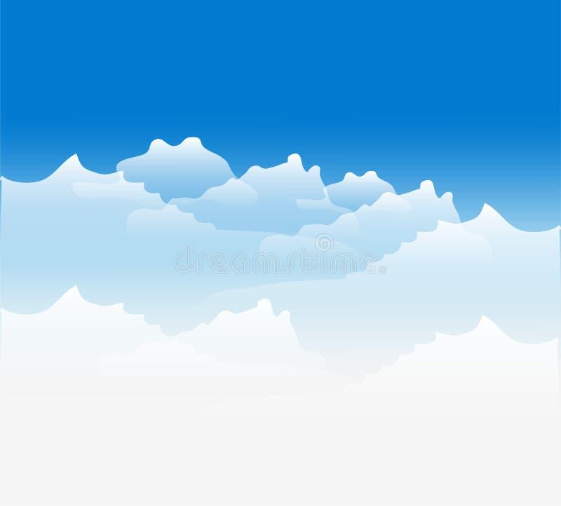 Предпосылка облака иллюстрация штока