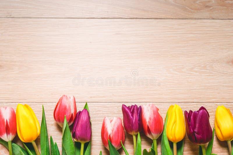 Предпосылка 8-ое марта дня ` s женщин с весной цветет стоковое фото rf