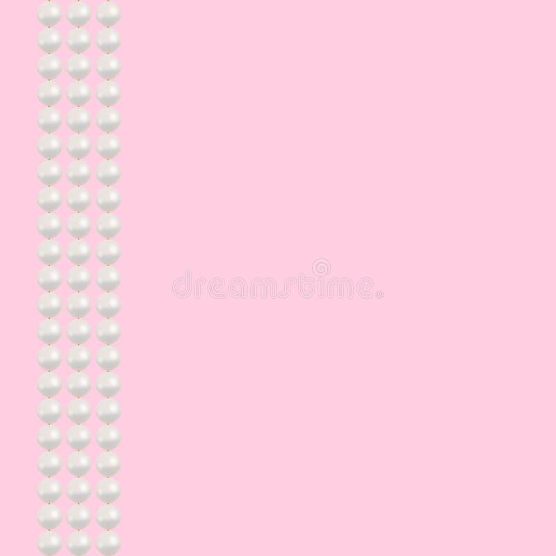 Предпосылка ожерелья жемчуга стоковое изображение rf