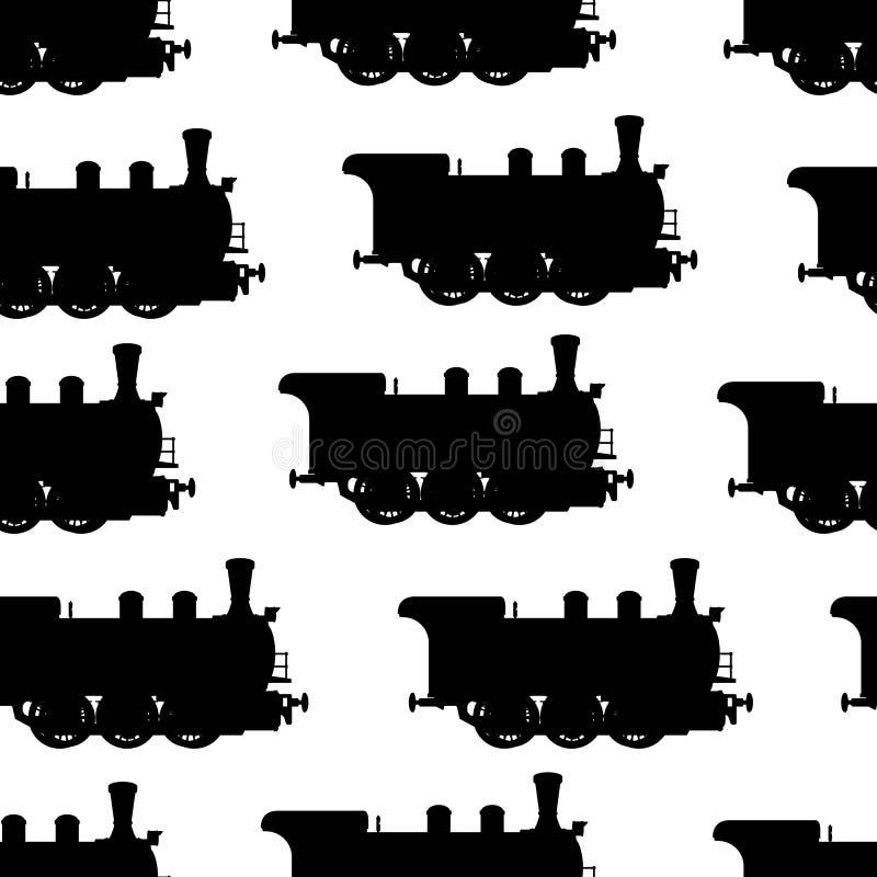 Предпосылка локомотива пара силуэта безшовная бесплатная иллюстрация