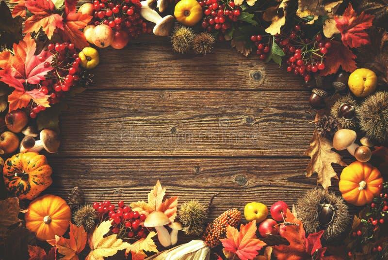 Предпосылка осени благодарения стоковое фото rf