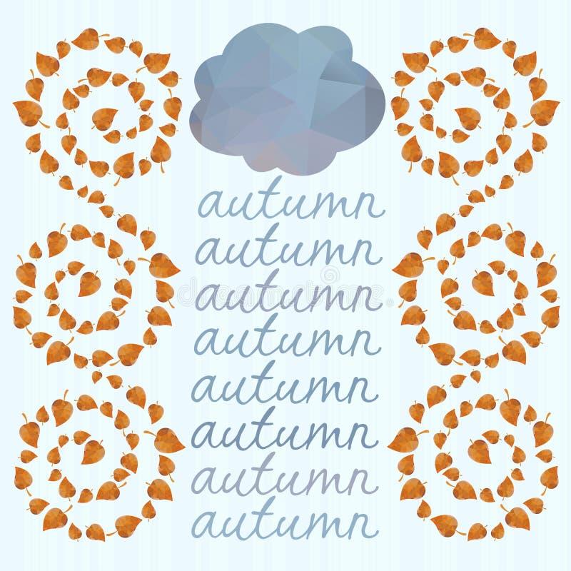 Download Предпосылка осени с листьями и облаками. Иллюстрация штока - иллюстрации насчитывающей листво, bluets: 37925991