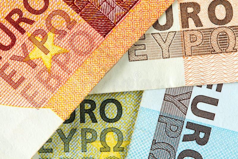 Предпосылка от валюты евро стоковое изображение