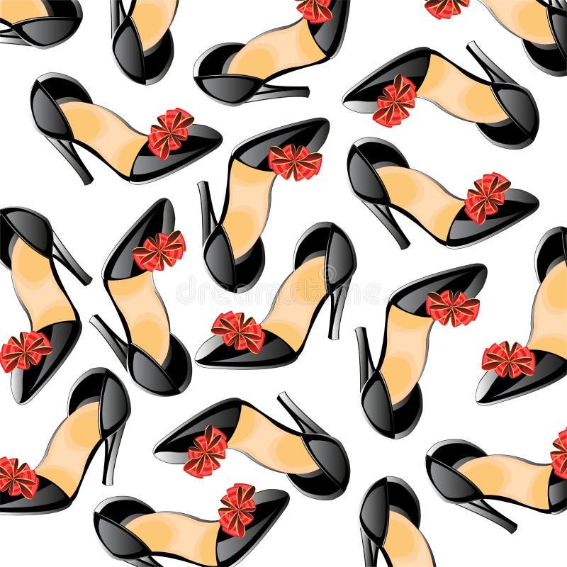 Предпосылка от женственного loafer иллюстрация штока