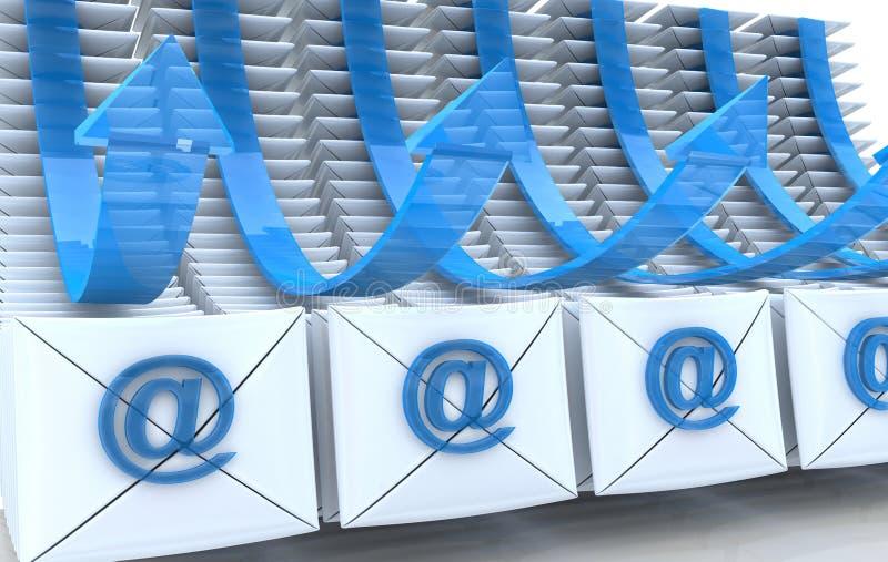 Предпосылка от электронной почты бесплатная иллюстрация