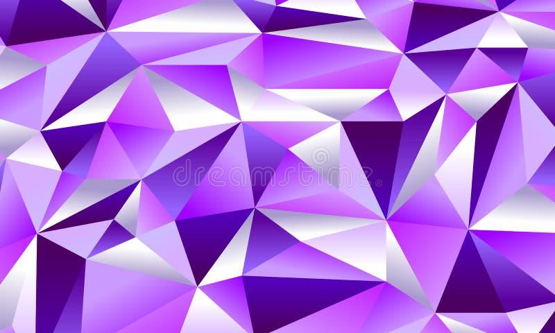 Предпосылка очарования фиолетовая низкая поли стоковые изображения