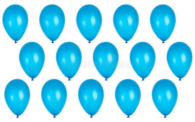 Предпосылка партии с голубыми воздушными шарами стоковые изображения rf