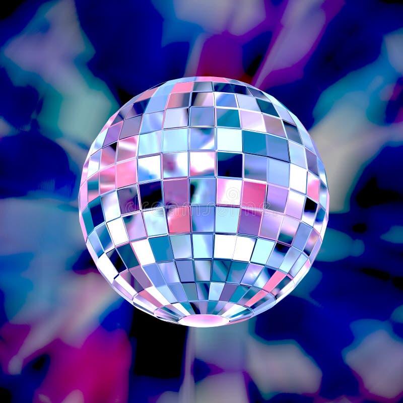 Предпосылка партии шарика диско красочная иллюстрация вектора