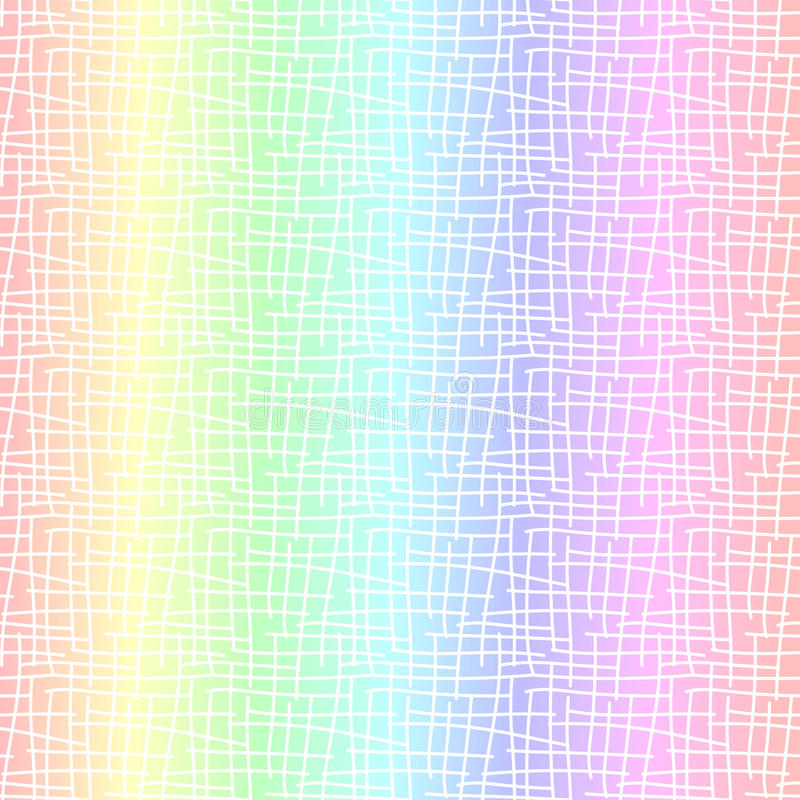 Предпосылка пастельного конспекта радуги безшовная иллюстрация вектора