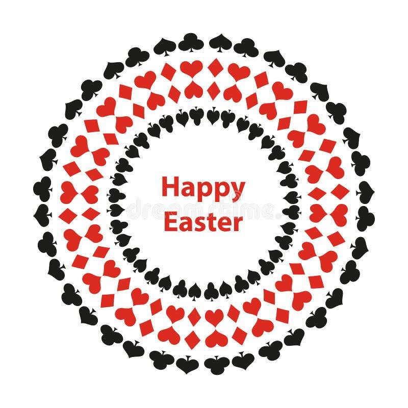 предпосылка пасха счастливая иллюстрация вектора