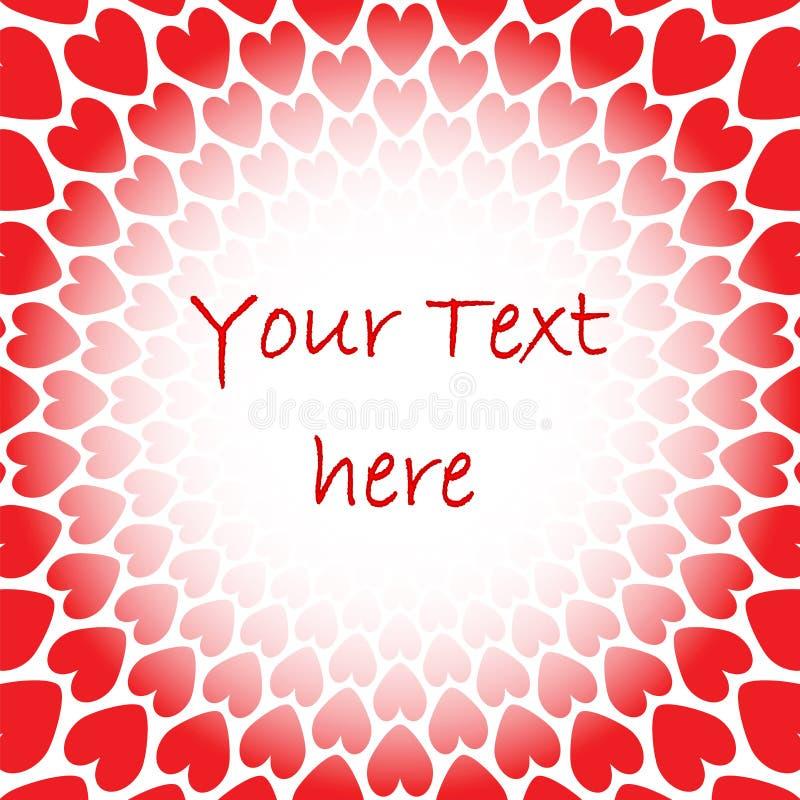 Предпосылка перспективы сердца дизайна красная для текста.  иллюстрация вектора