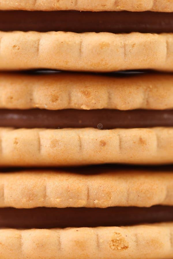 Предпосылка печениь сандвича с шоколадом. стоковые изображения rf
