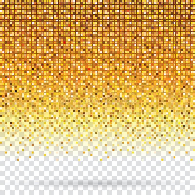 Предпосылка пиксела золота иллюстрация вектора