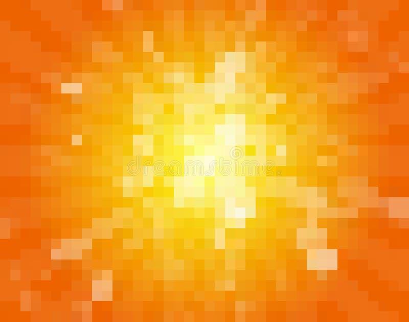 Предпосылка пиксела Солнця бесплатная иллюстрация