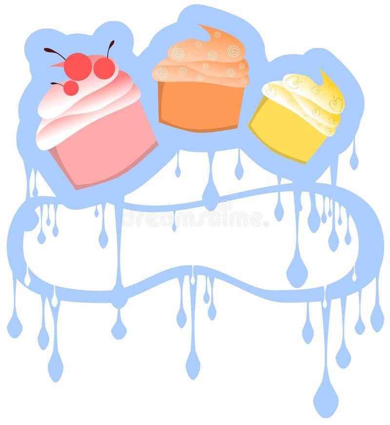 Предпосылка пирожных иллюстрация вектора