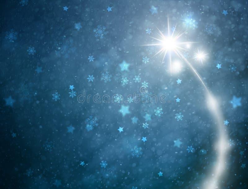 Предпосылка поздравительной открытки фейерверков Нового Года иллюстрация вектора