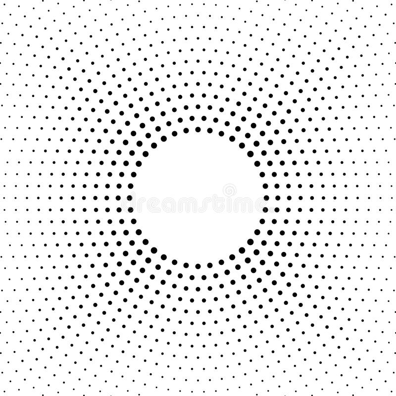 Предпосылка поставленная точки полутоновым изображением Картина вектора влияния полутонового изображения Точки круга изолированны