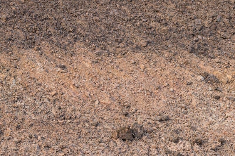 Предпосылка почвы выкопала сухое стоковое фото