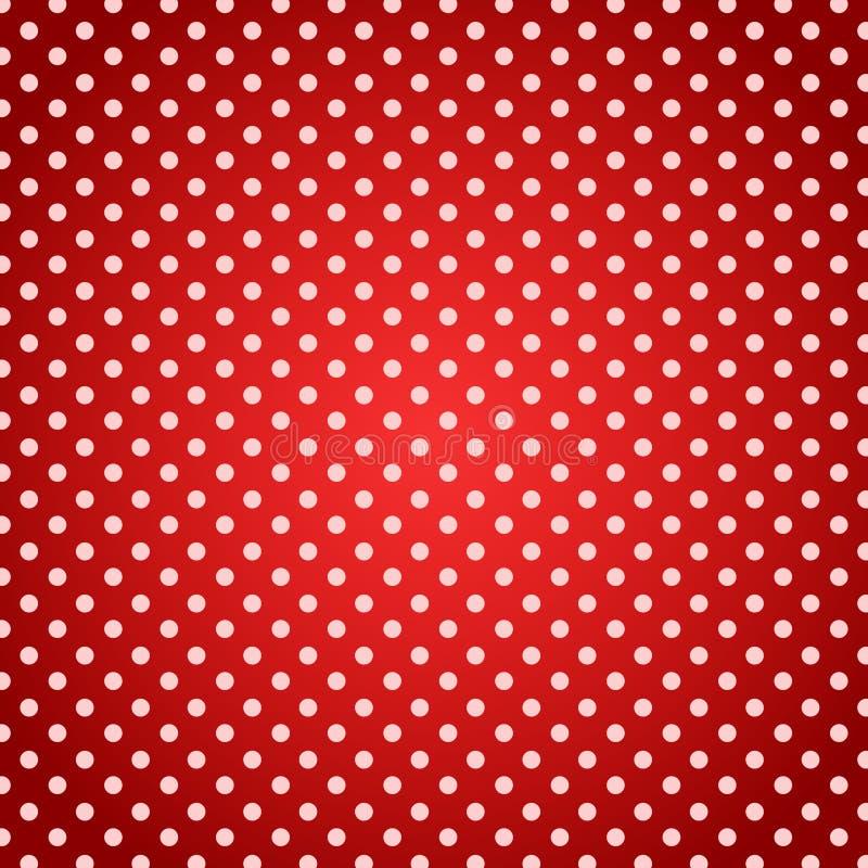 Предпосылка полотенца пикника точек польки красная иллюстрация штока