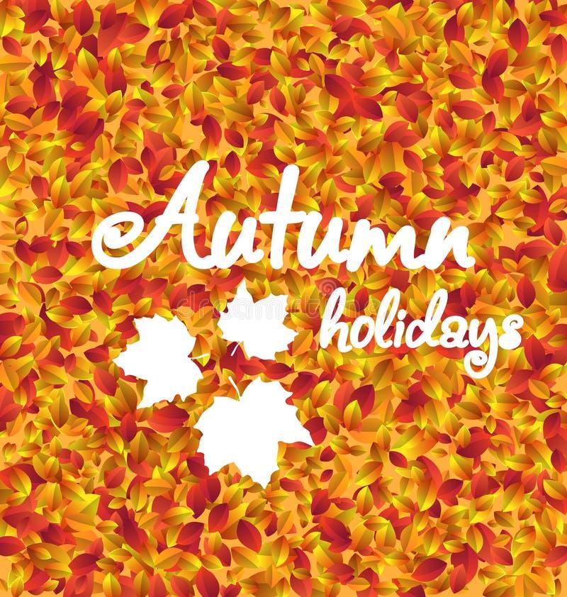 Предпосылка праздника осени, текстура листьев бесплатная иллюстрация