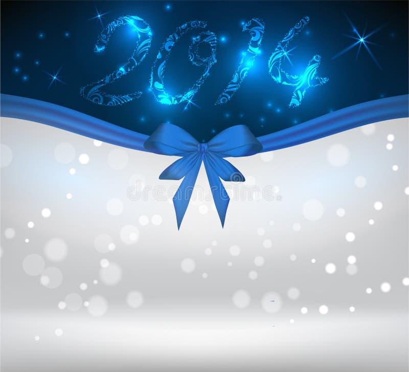 Предпосылка праздника с голубой лентой смычка иллюстрация вектора