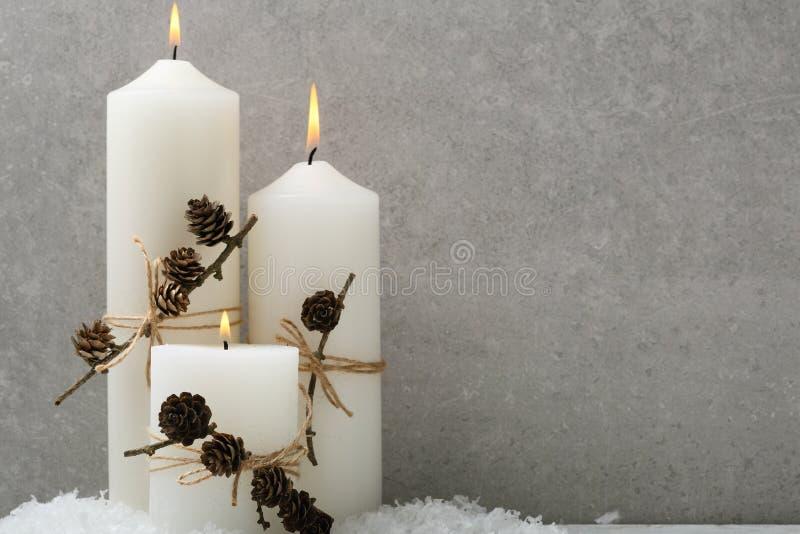 Предпосылка праздника с свечами стоковые изображения